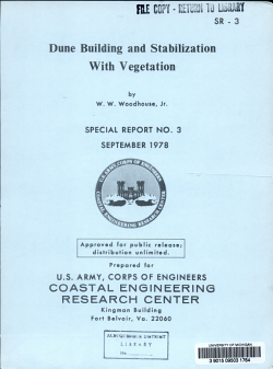 Dune Building and Stabilization with Vegetation PDF