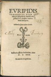 Euripidis Tragoediae duae Hecuba et Iphigenia in Aulide