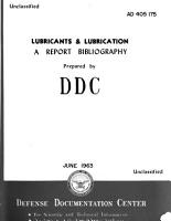Lubricants and Lubrication PDF