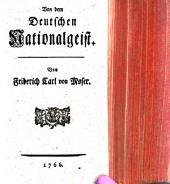 Von dem Deutschen Nationalgeist