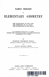 FAMOUS PROBLEMS OF ELEMENTARY GEOMETRY (YEAR 1897)