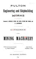 Catalogue of Mining Machinery PDF
