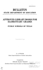 Approved Library Books for Elementary Grades, Public Schools of Texas