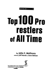 Top 100 Pro Wrestlers of All Time PDF