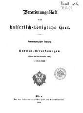 Verordnungsblatt für das k. u. k. Heer: Normal-Verodnungen, Band 29