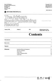 The African Book Publishing Record