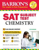 Barron s SAT Subject Test  Chemistry with Online Tests PDF