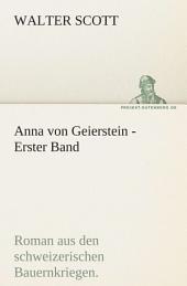 Anna Von Geierstein - Erster Band