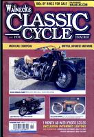 WALNECK S CLASSIC CYCLE TRADER  NOVEMBER 2005 PDF