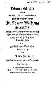 Lebensgeschichte ... J. W. Brenk's, der im 46sten Jahre seines Lebens von der christlichen zur iüdischen Religion übergieng, etc