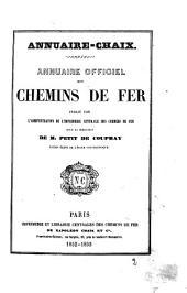 """Annuaire """"Chaix"""" des chemins de fer"""