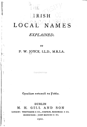 Irish Local Names Explained