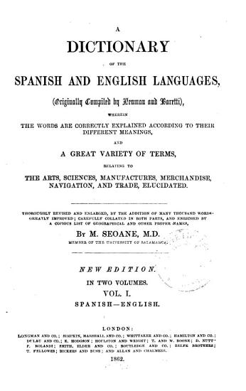 A dictionary of the Spanish and English languages  orig  compiled by Neuman and Baretti PDF