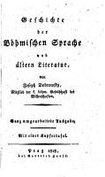 Geschichte der B  hmischen Sprache und   ltern Literatur PDF