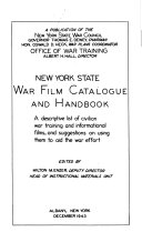 New York State War Film Catalogue and Handbook PDF