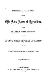 Annual Report of the Ohio State Board of Agriculture: Volume 20, Part 1865