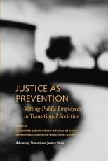 Justice as Prevention PDF
