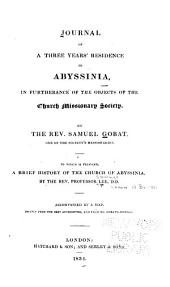 Journal of three years' residence in Abyssinia