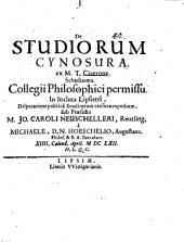 De studiorum cynosura, ad M. T. Cicerone schediasma