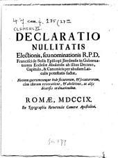 Declaratio nullitatis electionis Francisci de Solis episcopi