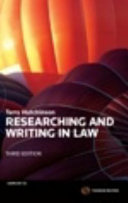 Researching and Writing in Law PDF
