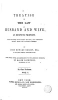 A Treatise on the Law of Husband and Wife PDF