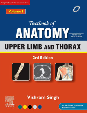 Textbook of Anatomy: Upper Limb and Thorax, Vol 1, 3rd Updated Edition, EBook