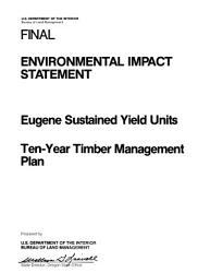 Eugene Timber Management Book PDF
