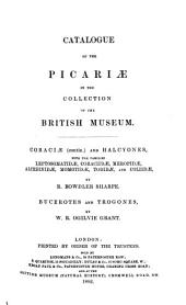 Catalogue of the Birds in the British Museum: Volume 17
