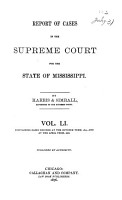 Cases Argued and Decided in the Supreme Court of Mississippi     PDF