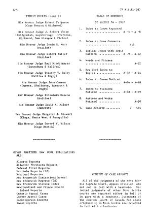 Nova Scotia Reports PDF