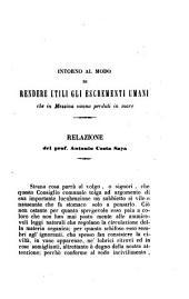 Intorno al modo di rendere utili gli escrementi umani che in Messina vanno perduti in mare relazione del prof. Antonio Costa Saya