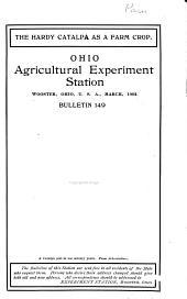 The Hardy Catalpa as a Farm Crop