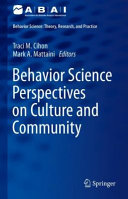 Behavior Science Perspectives on Culture and Community PDF