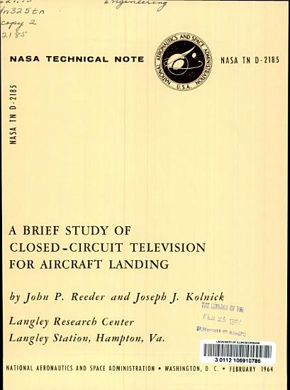 A Brief Study of Closed circuit Television for Aircraft Landing PDF