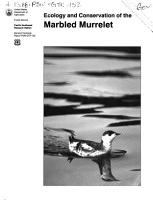 Ecology and Conservation of the Marbled Murrelet PDF
