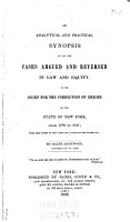 An Analytical and Practical Synopsis of All the Cases Argued and Reversed in Law and Equity PDF
