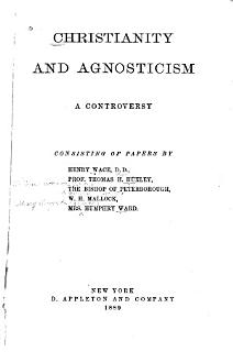 Christianity and Agnosticism Book