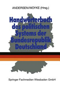 Handw  rterbuch des politischen Systems der Bundesrepublik Deutschland PDF