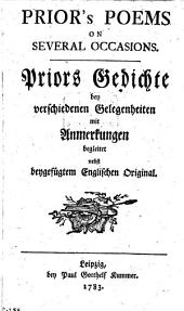 Poems on several occasions: Gedichte