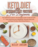 Keto Diet and Intermittent Fasting for Beginners PDF