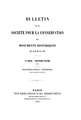 Bulletin de la Soci  t   pour la Conservation des Monuments Historiques d Alsace PDF