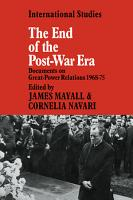 The End of the Post War Era PDF
