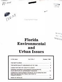 Florida Environmental and Urban Issues PDF