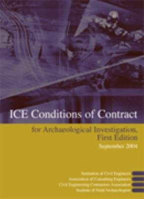 Ice Conditions of Contract for Archaelogical Investigation PDF