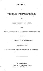 Journal of the House of Representatives of the United States: Volume 29, Issue 2