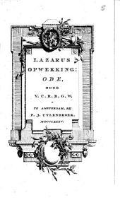 Lazarus opwekking: ode