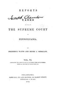 Reports of Cases Adjudged in the Supreme Court of Pennsylvania  1841 1845  PDF