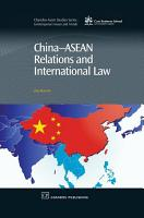 China Asean Relations and International Law PDF