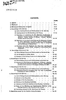 Proceedings of the Meetings of the Chamber of Princes  Narenda Mandal  PDF